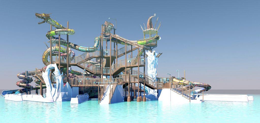 piscine et jeu d'eau exterieur svalgurrok rulantica