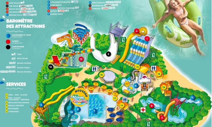 Plan Aqualand Arcachon