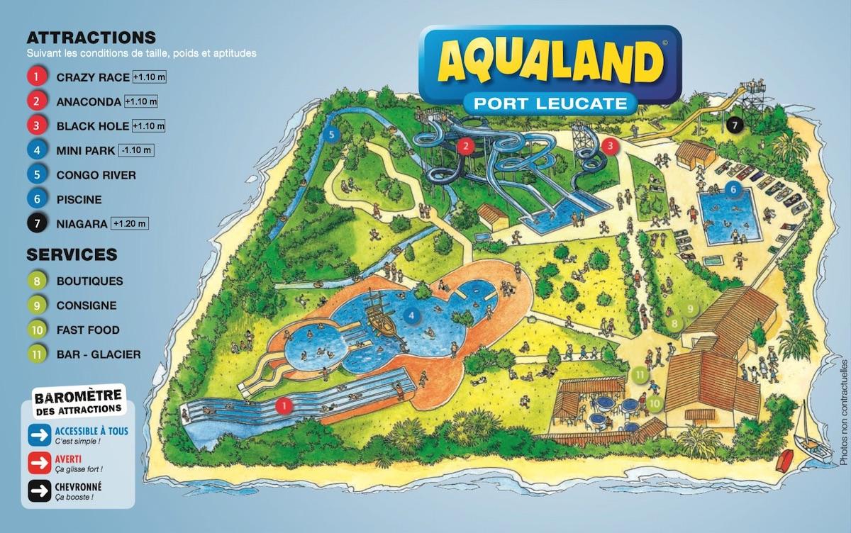 Plan Aqualand Port Leucate