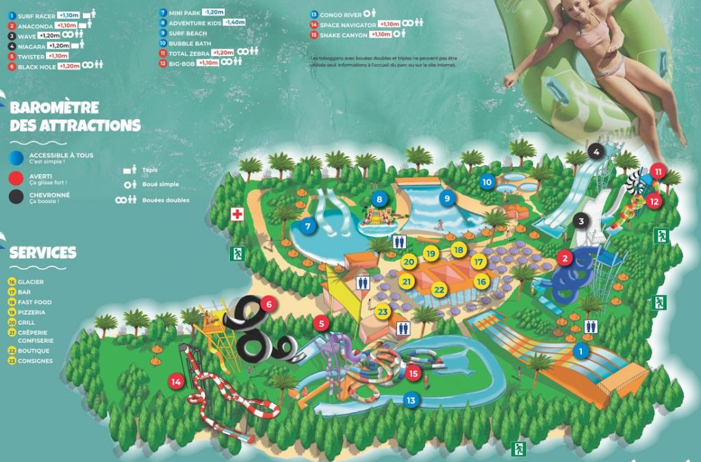 Plan Aqualand Saint Cyprien
