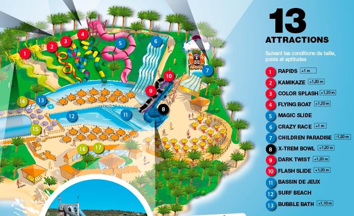plan parc aqualand sainte Maxime