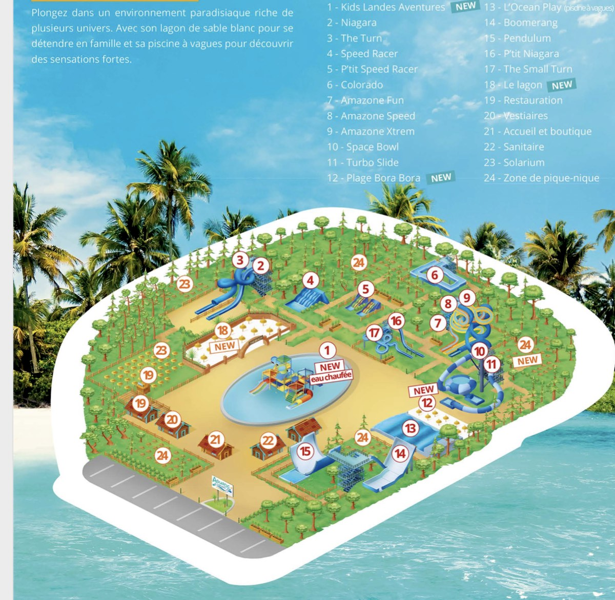 Plan aquatic landes