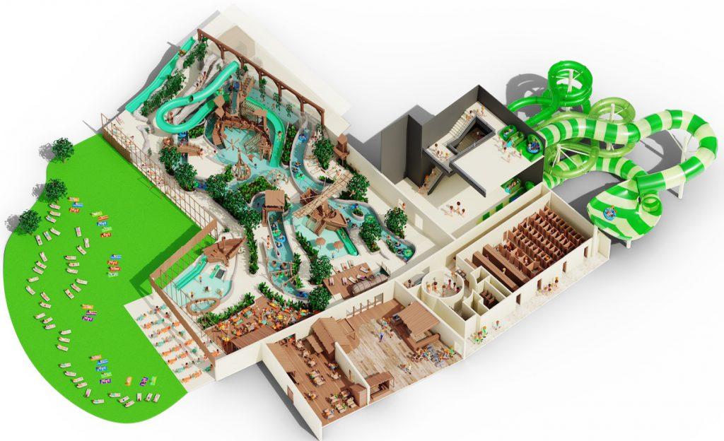 Plan Aquapark Bellewaerde