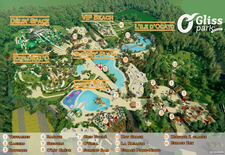 plan parc aquatique O'Gliss Park