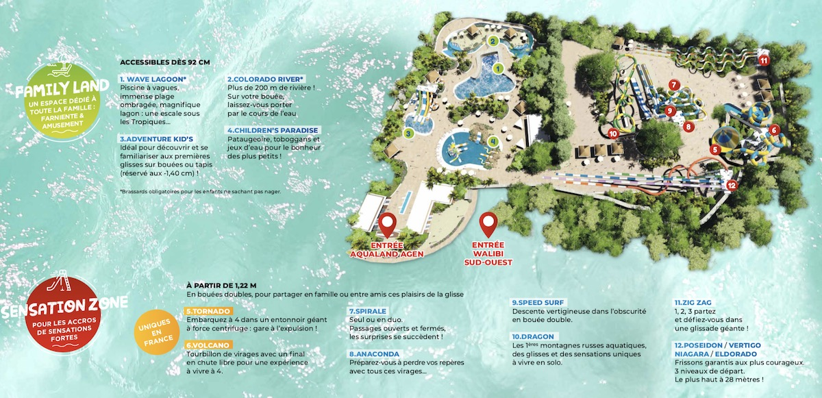Plan Aqualand Agen