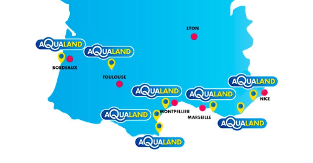 Carte Aqualand France